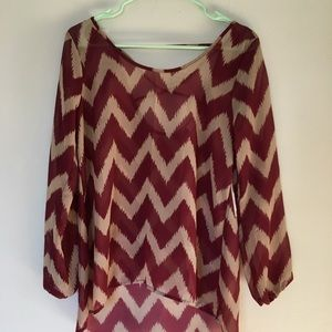 Chevron sheer blouse